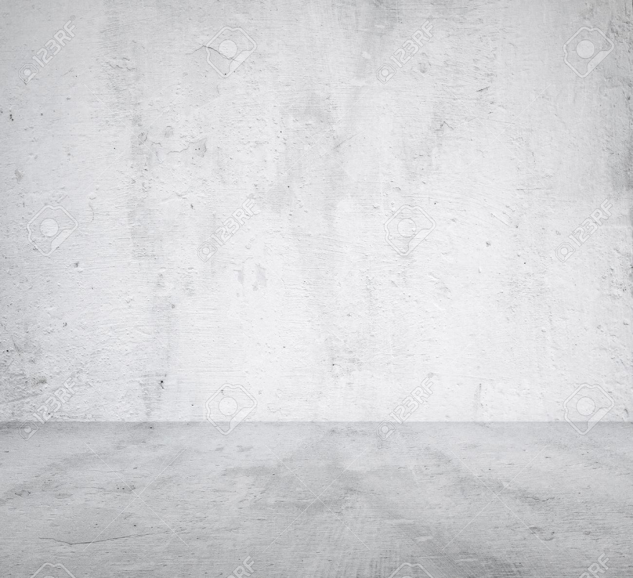 empty room with concrete wall, grey background - 25864713