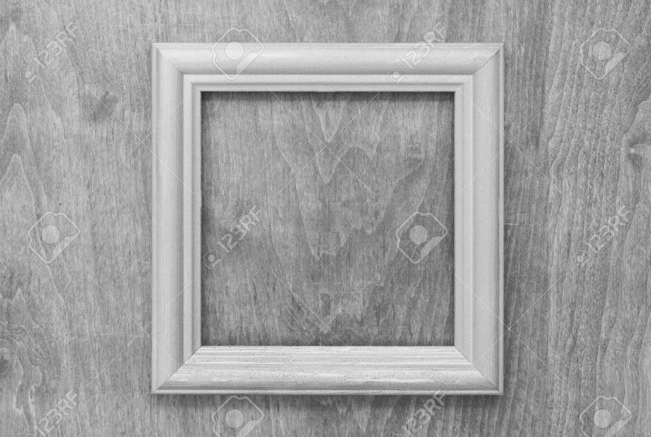 Leere Bilderrahmen Auf Alten Holz Graue Wand Lizenzfreie Fotos ...