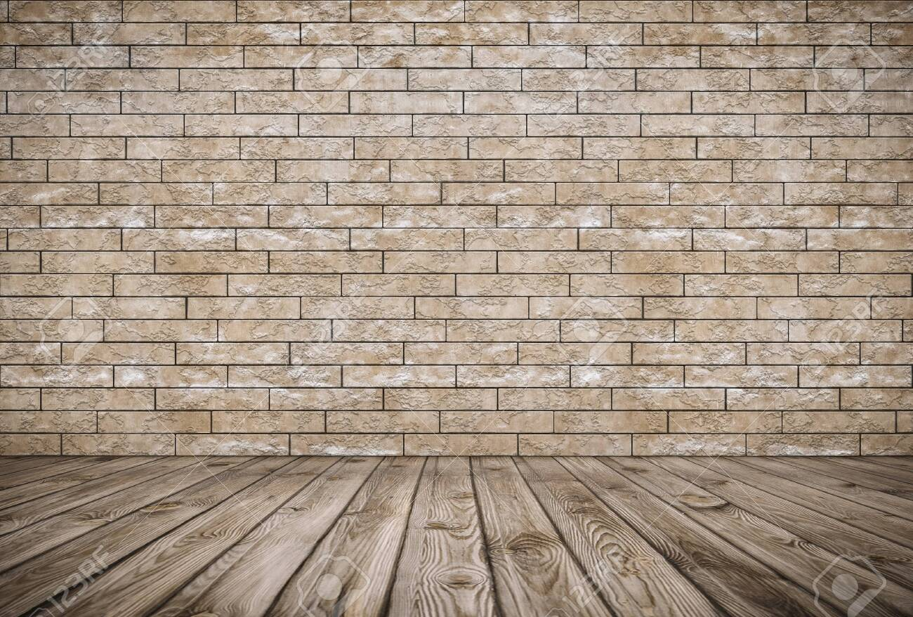 old room with brick wall, vintage background - 143083964