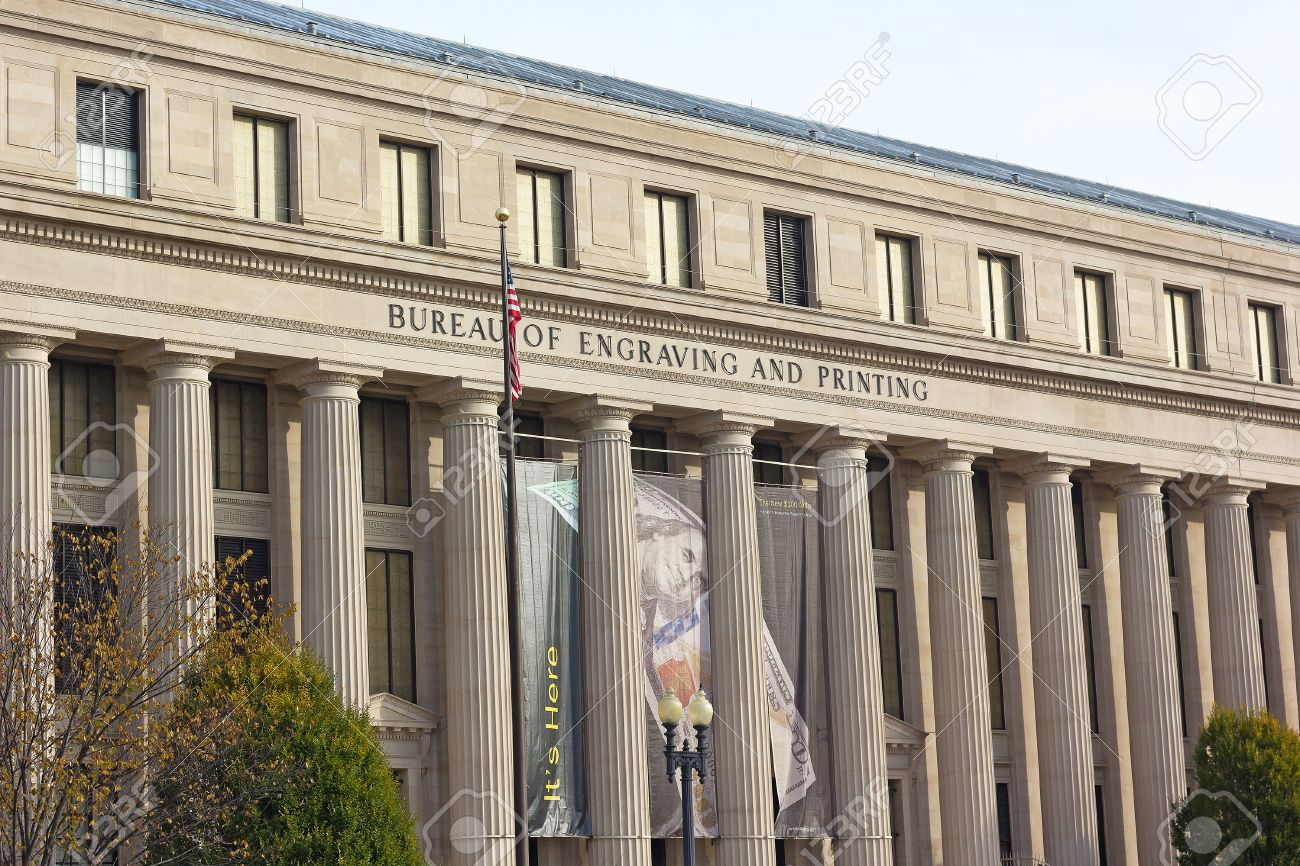 The Building Of Bureau Of Engraving And Printing In Washington