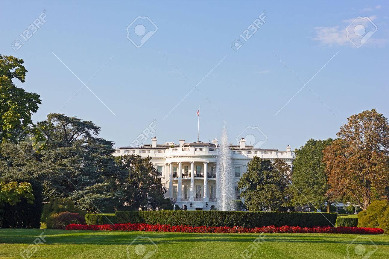 La maison blanche washington dc usa la maison blanche et magnifiquement entretenu jardin