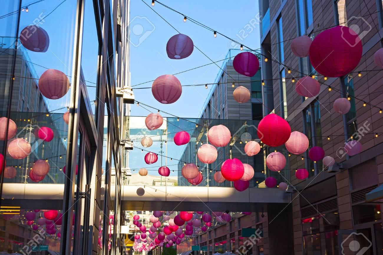 Dc City Center Festive Atmosphere During Cherry Blossom Annual