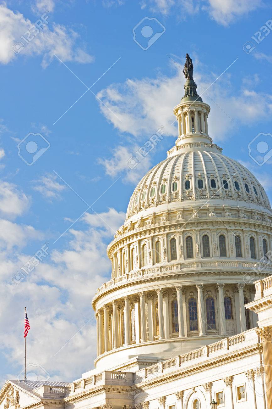 591f1dd79c Statue Of Freedom On Top Of US Capitol Building In Washington ...
