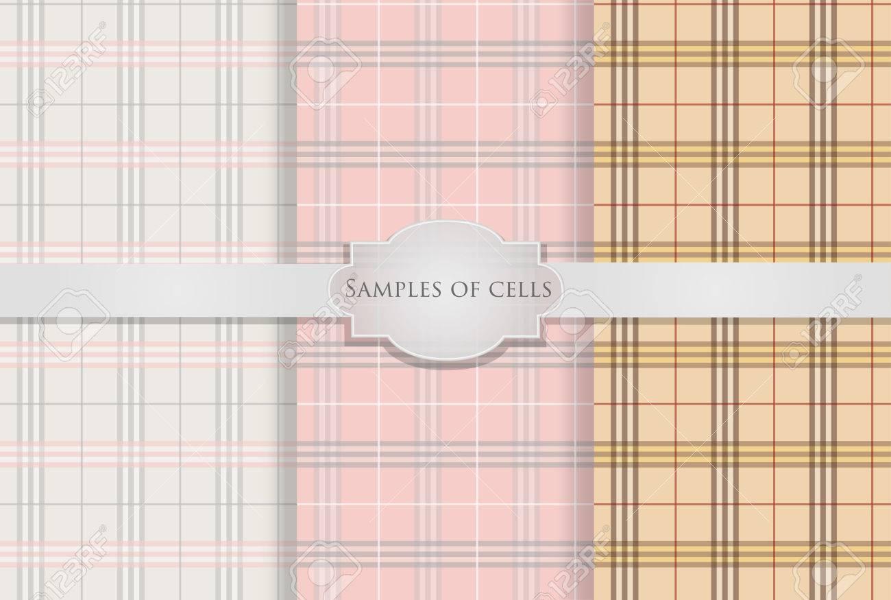 3 Variantes Papier Peint Carreaux Sans Soudure Clip Art Libres De