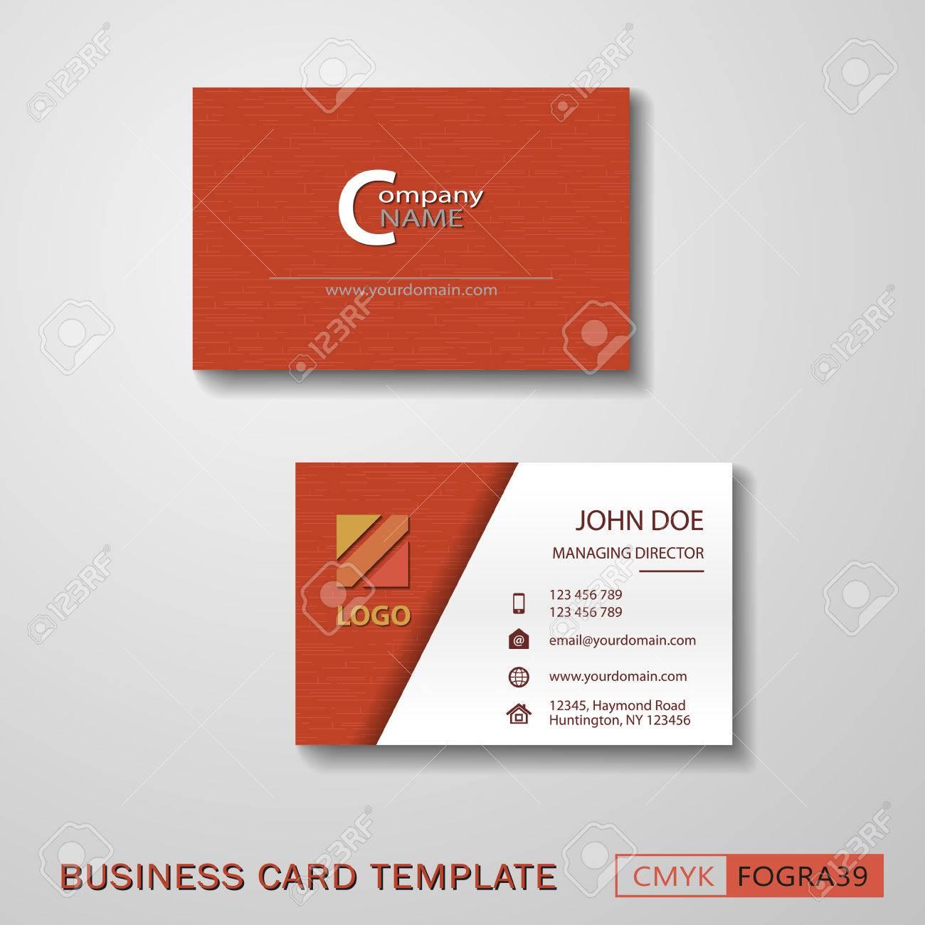 Vcard business card set red royalty free cliparts vectors and vcard business card set red stock vector 60951907 colourmoves