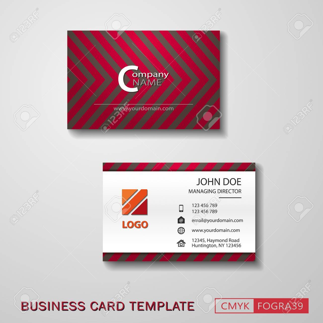 Vcard business card set royalty free cliparts vectors and stock vcard business card set stock vector 60951910 colourmoves