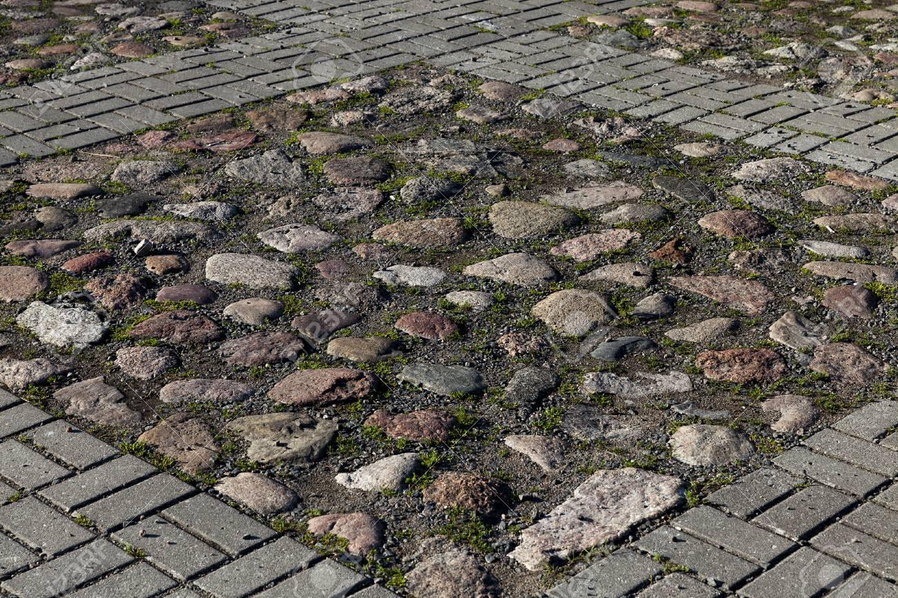 Mosaico in ciottoli di pietra naturale mod rio cinza
