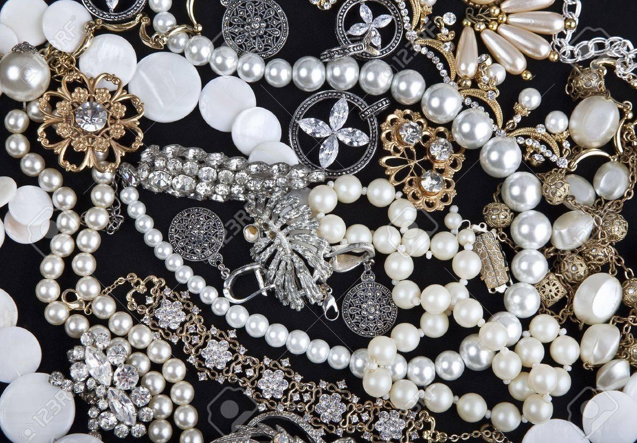Jewelry on black background Stock Photo - 10776143