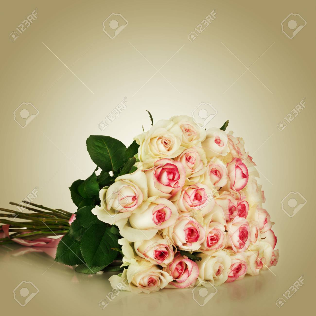 Bunch Of Pink Roses Stock Photo Picture And Royalty Free Image