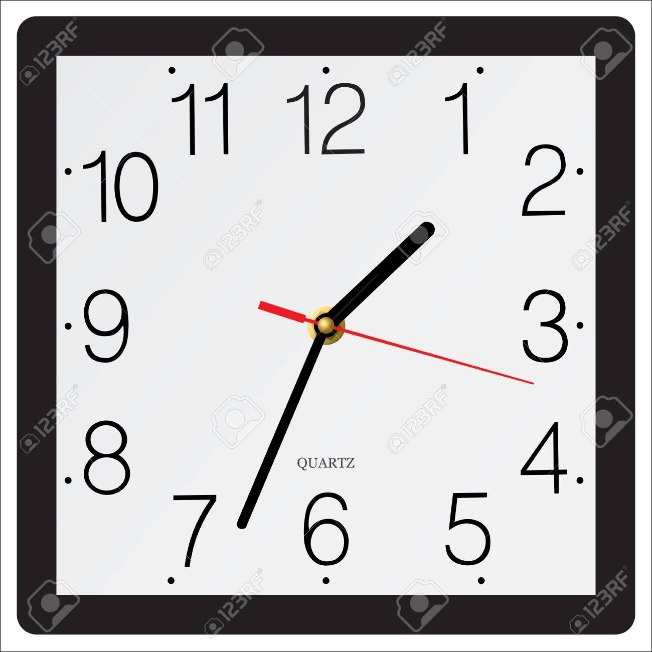 Square Simple Classic Wall Clock Isolated On White Background Royalty Free Cliparts Vectors And Stock Illustration Image 67761751
