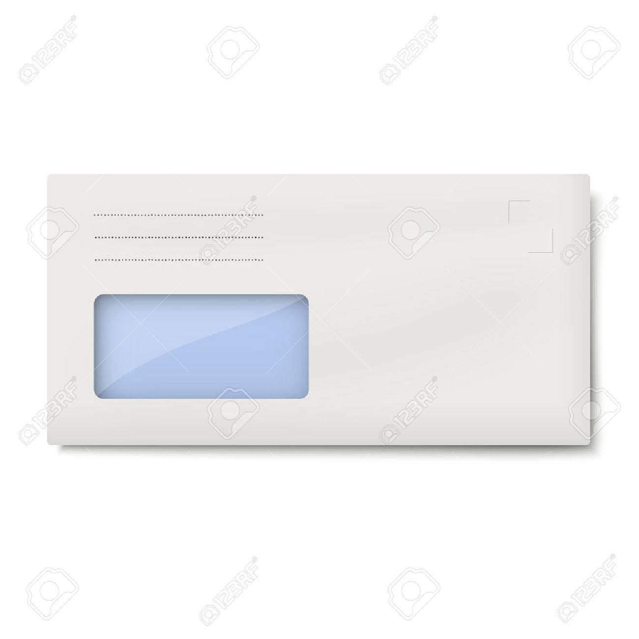 Dl Enveloppe Avec Fenêtre Pour Ladresse Isolée Sur Fond Blanc Clip