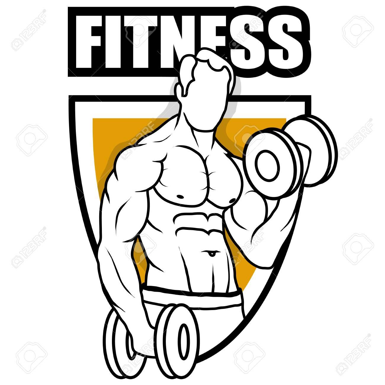Fitness Center Gym Emblem Fitness Logo Health Center Logo