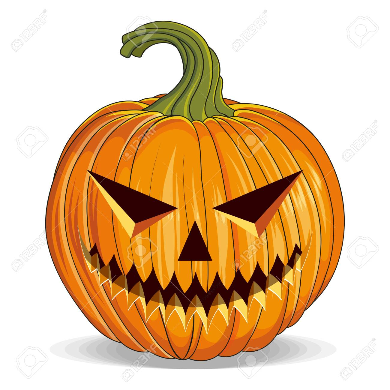 Halloween Pumpkin With Cut Out Eyes Happy Halloween Holiday Royalty Free Cliparts Vectors And Stock Illustration Image 129681052