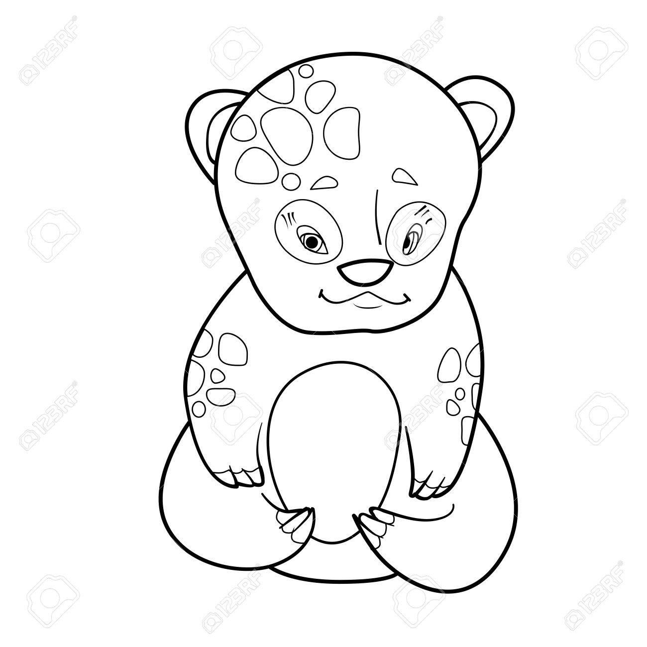 Libro De Colorear Con Dibujos Animados De Lindo Bebé Oso ...