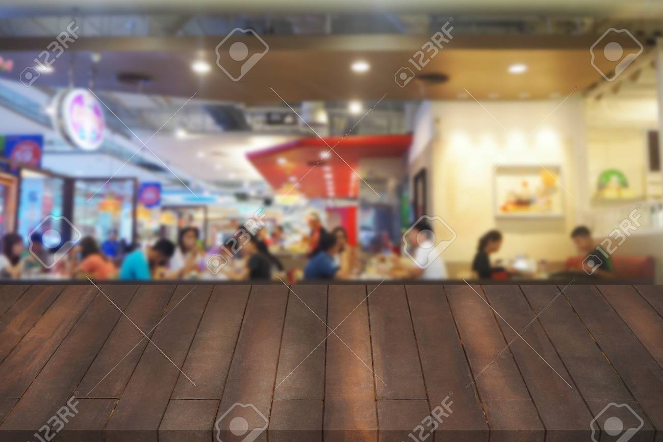 Wooden Table Mock Up Interior Restaurant Design Advertising - Restaurant table advertising