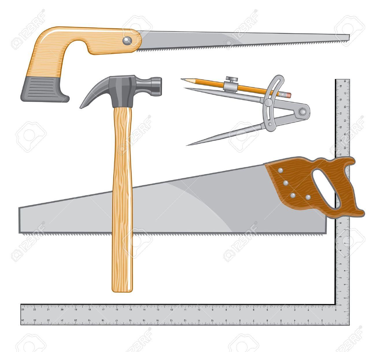 Tischlerei werkzeug  Tischler-Werkzeug-Logo Ist Eine Illustration, Die Als Logo Für ...