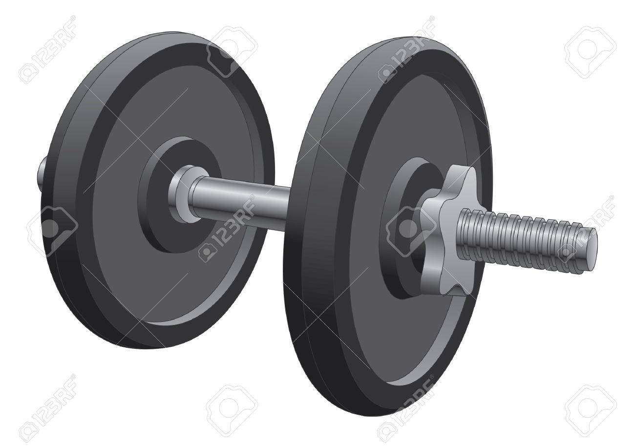 Dumbbell is an illustration of a single dumbbell used in weight lifting and fitness workouts. Stock Vector - 12829656