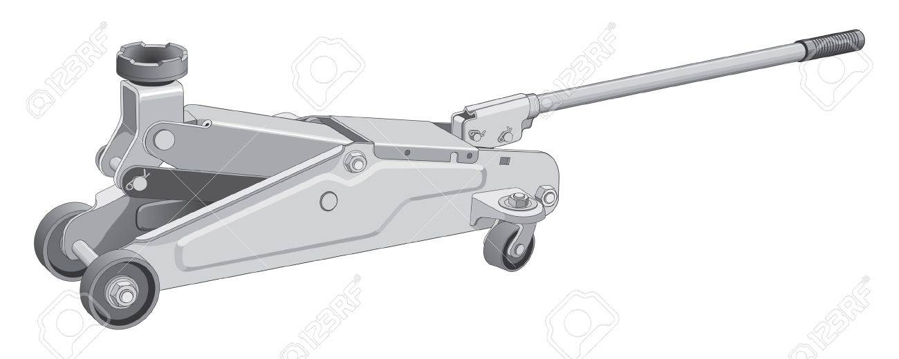 Car jack is an illustration of a car jack used to lift vehicles. Stock Vector - 13282011