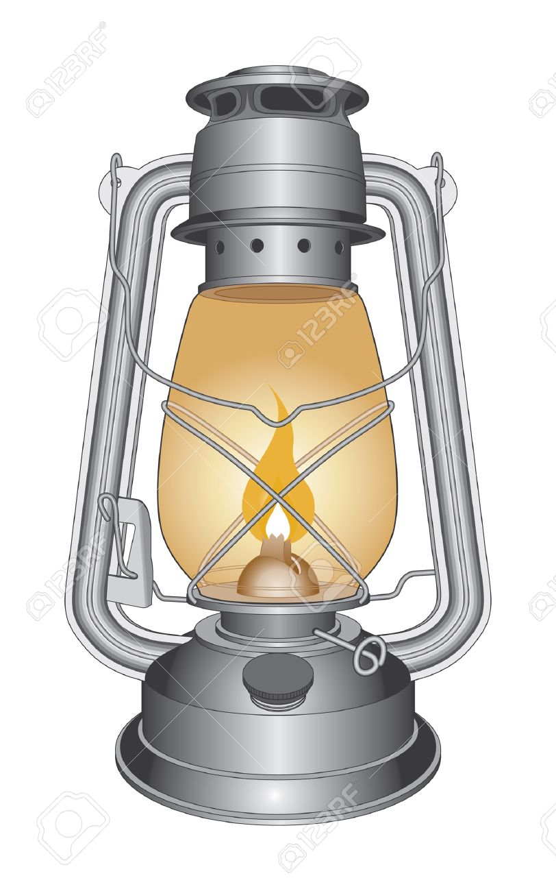 Vintage Oil Lamp or Lantern is an illustration of an old oil lamp. Stock Vector - 13405230