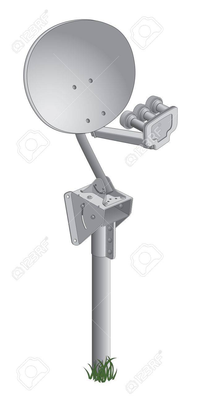 Satellite Dish is an illustration of a satellite dish used to receive satellite TV signals. Stock Vector - 13515109