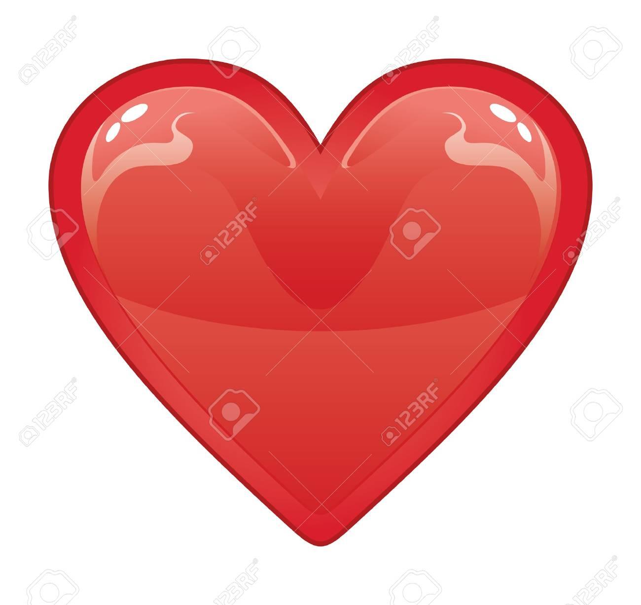 Vettoriale Cuore Di San Valentino è Una Illustrazione Di Un Cuore
