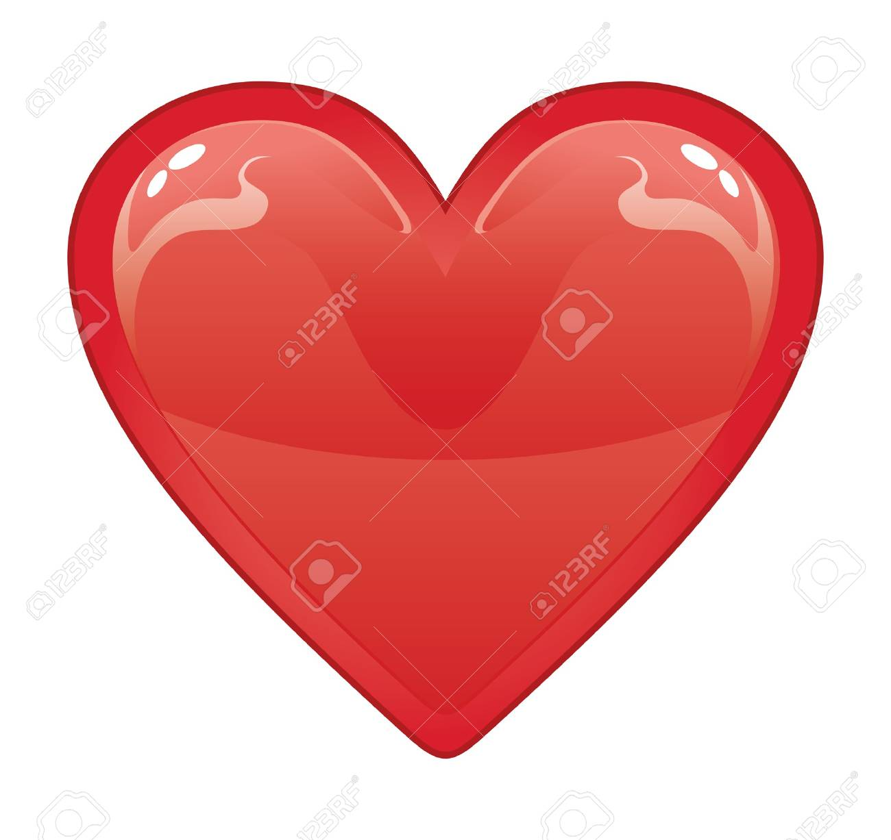 Valentine Heart is an illustration of a red valentine heart on a white background. Stock Vector - 13607907