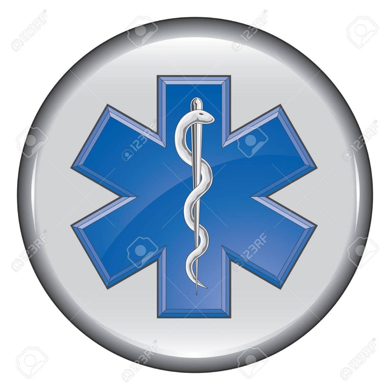 Rescue Paramedic Medical Button - 13704208