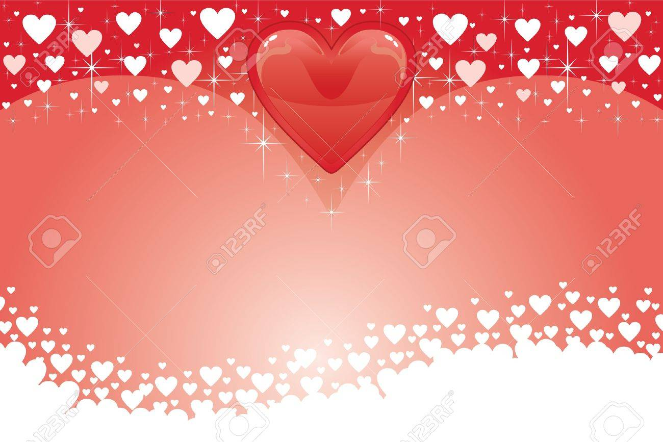 Valentine Card With Hearts III is an illustration of a Valentines Day Card with red and white Valentine hearts. Stock Vector - 13910502