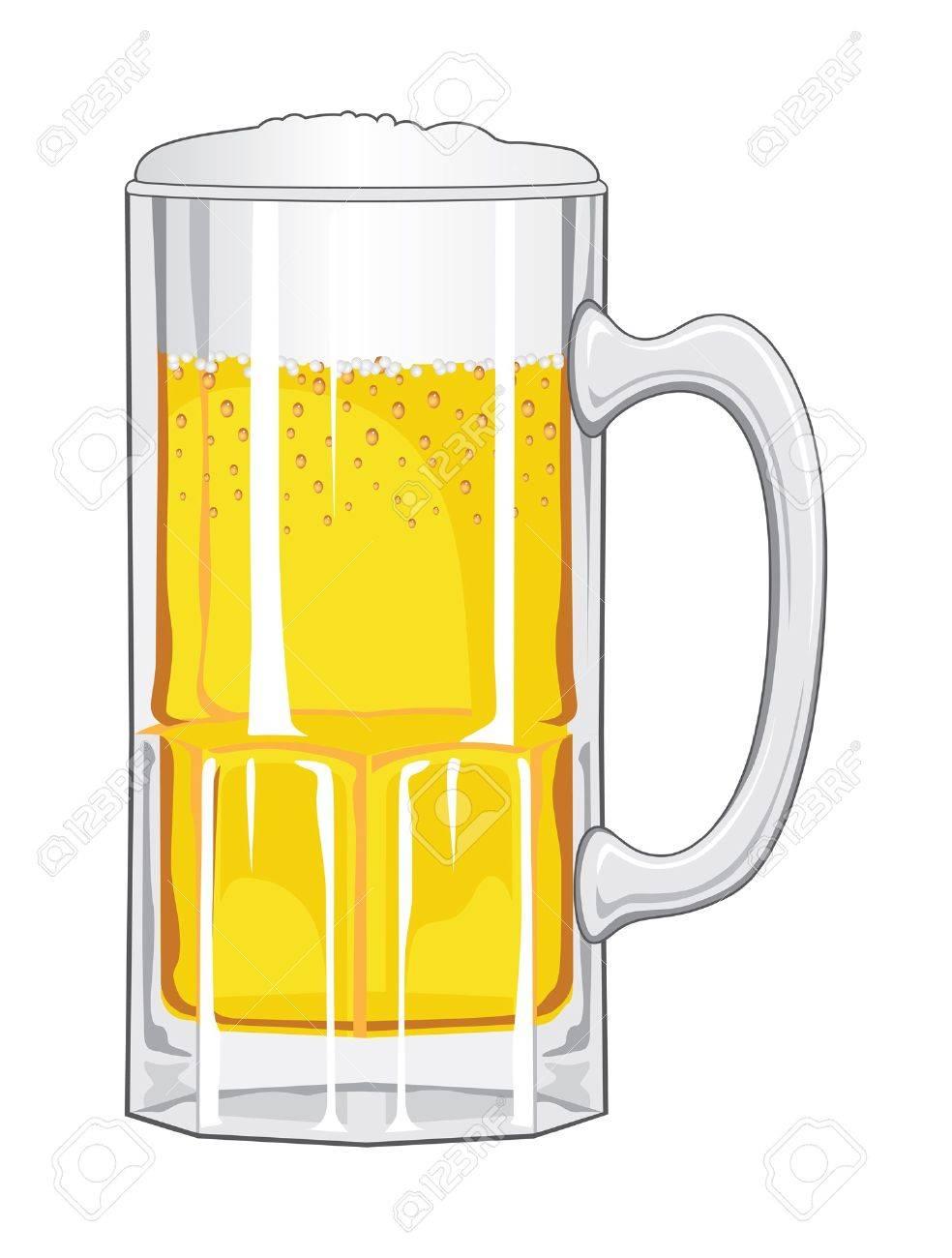Vettoriale Beer Green E Un Esempio Di Un Boccale Di Birra In Vetro Verde Scintillante Formazione Di Schiuma E Per Il Giorno Di St Patrick Image 14299094