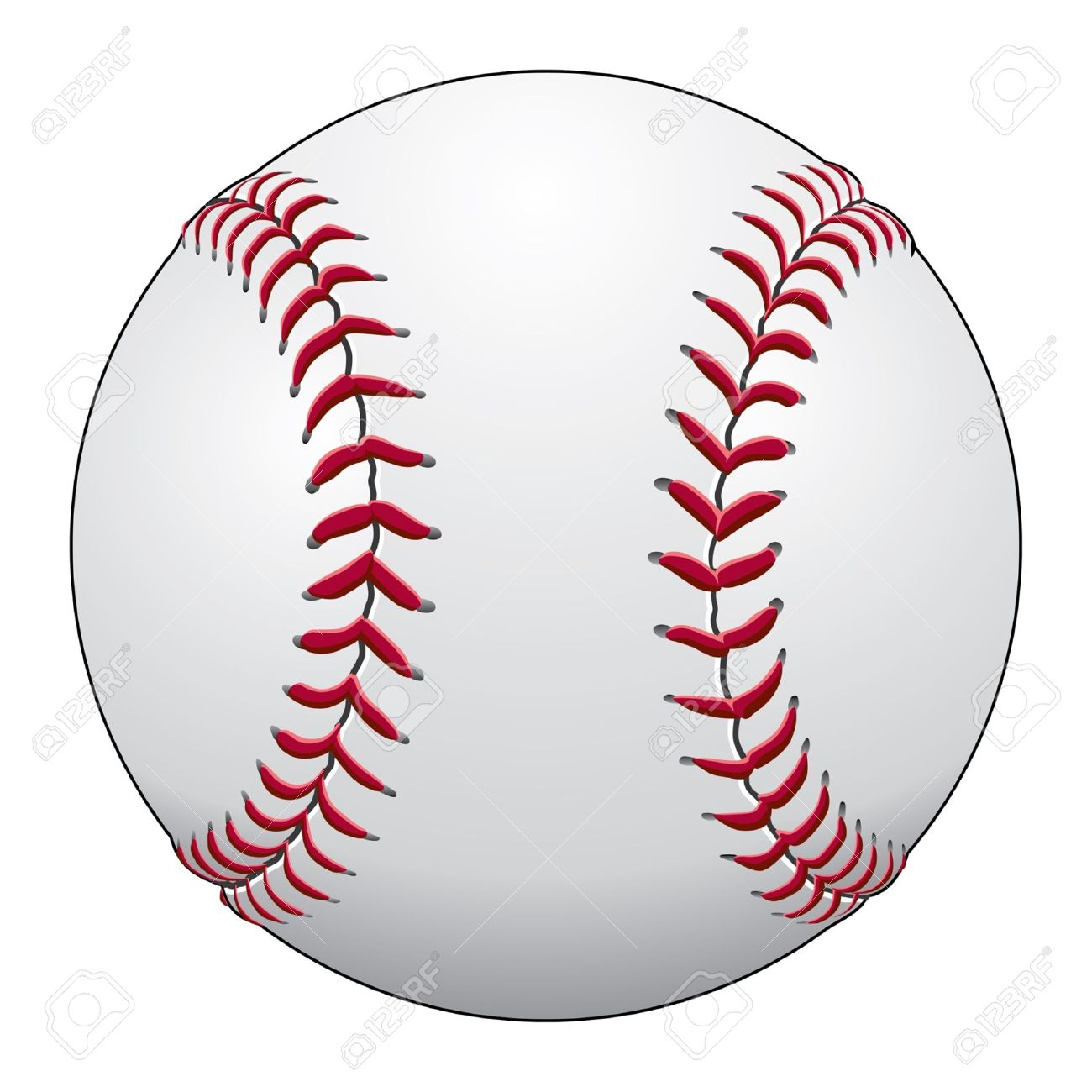 Baseball Is An Illustration Of A Baseball In White Leather With Royalty Free Cliparts Vectors And Stock Illustration Image 15245185