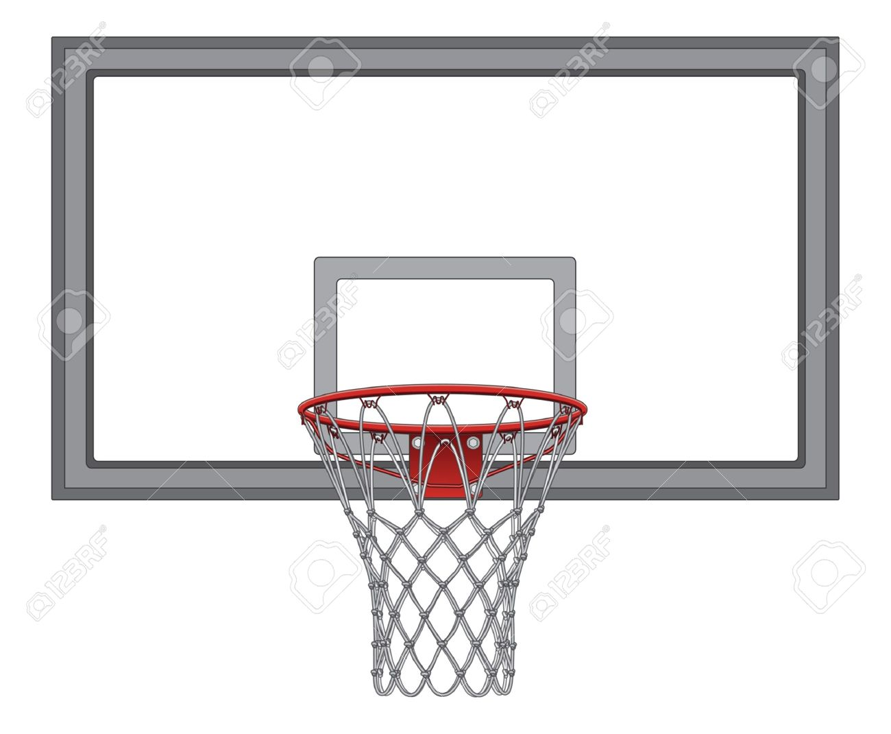 Basketball Net With Backboard is an illustration of a complex basketball net  including the basketball backboard 2917b4cf1