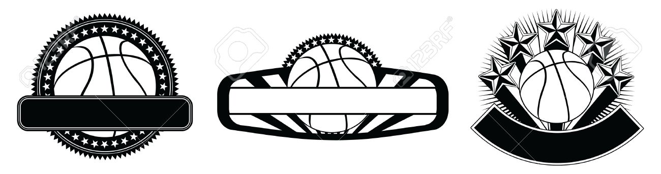 A basketball with a dark background powerpoint templates.