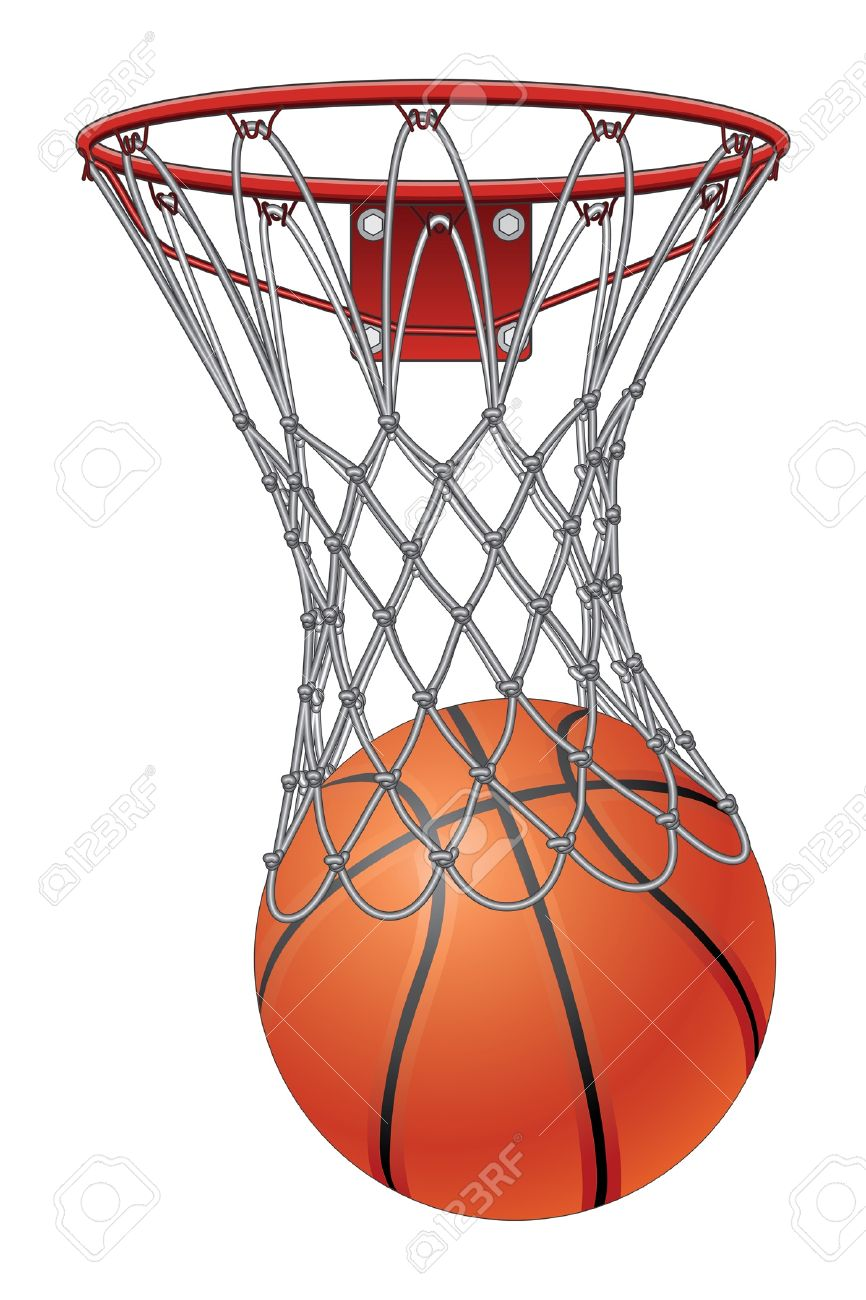 basketball through net is an illustration of a basketball going rh 123rf com free clip art community free clip art compass
