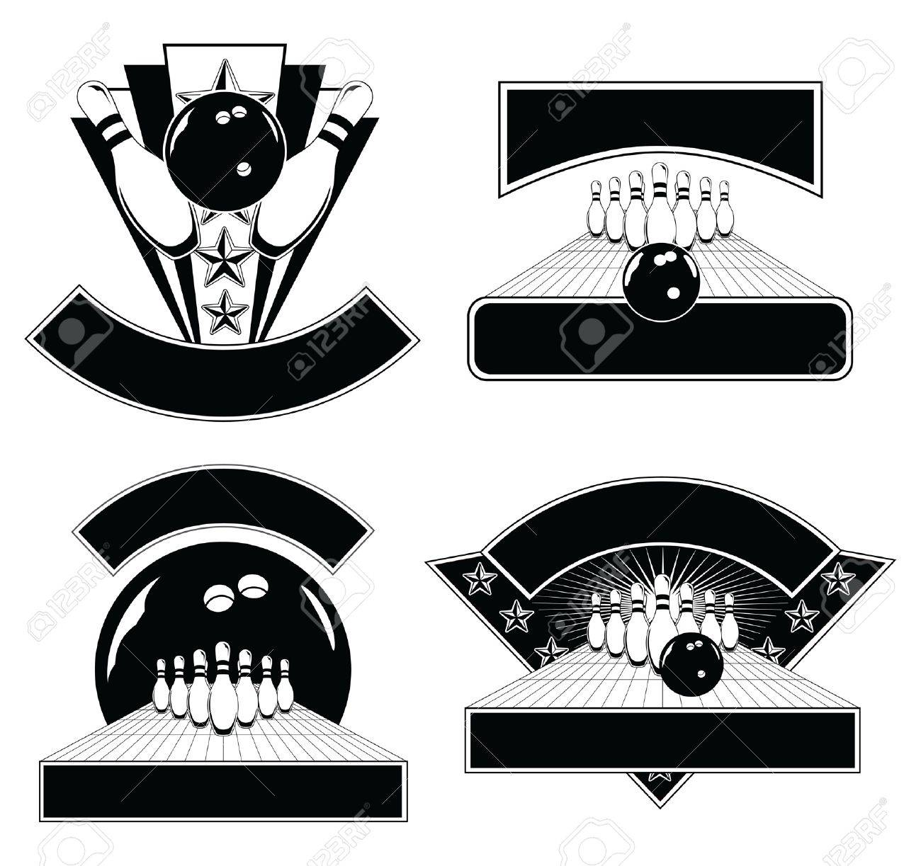 Bowling Plantillas Del Diseño Del Emblema Es Una Ilustración De ...