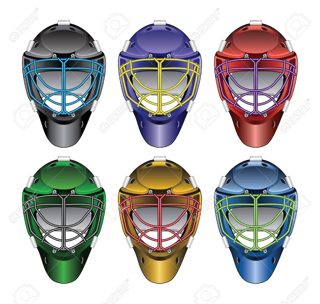 Ice Hockey Goalie Masks Is An Illustration Of Ice Hockey Goalie