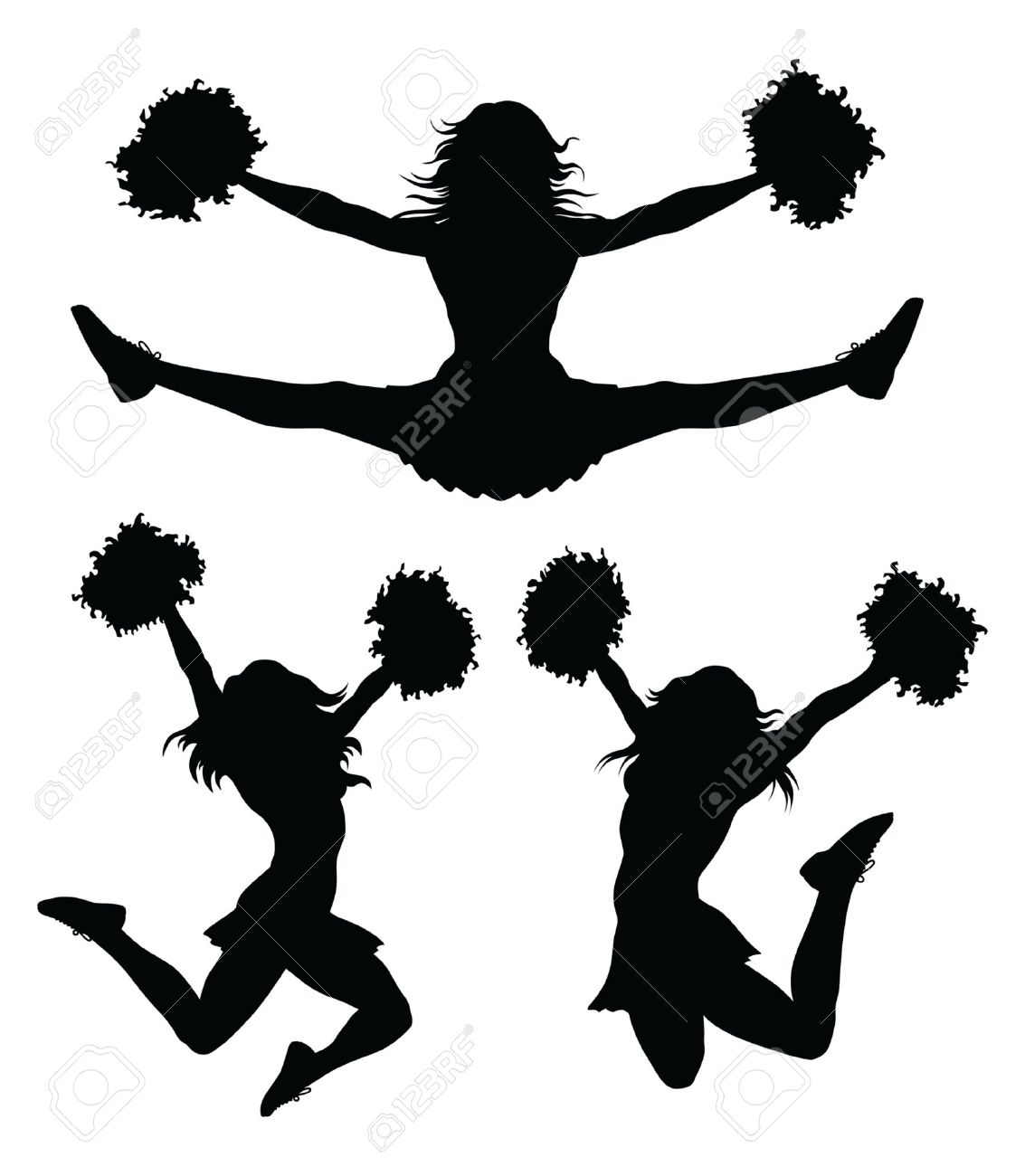 cheerleaders is an illustration of a cheerleader jumping and rh 123rf com cheerleader vector graphics cheerleader vector free