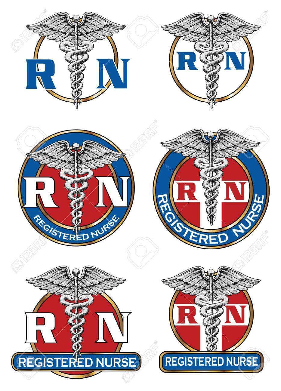 Registered Nurse Designs Is An Illustration Of Six Different