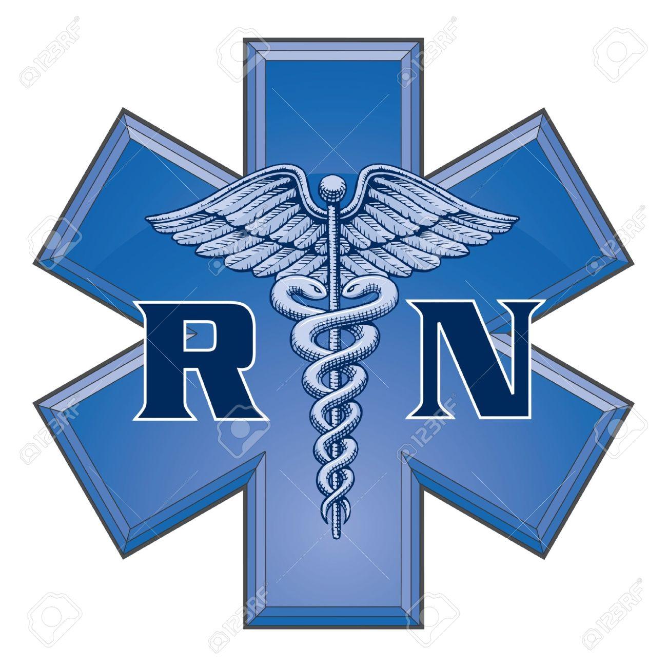 Registered Nurse Star Of Life Medical Symbol Is An Illustration