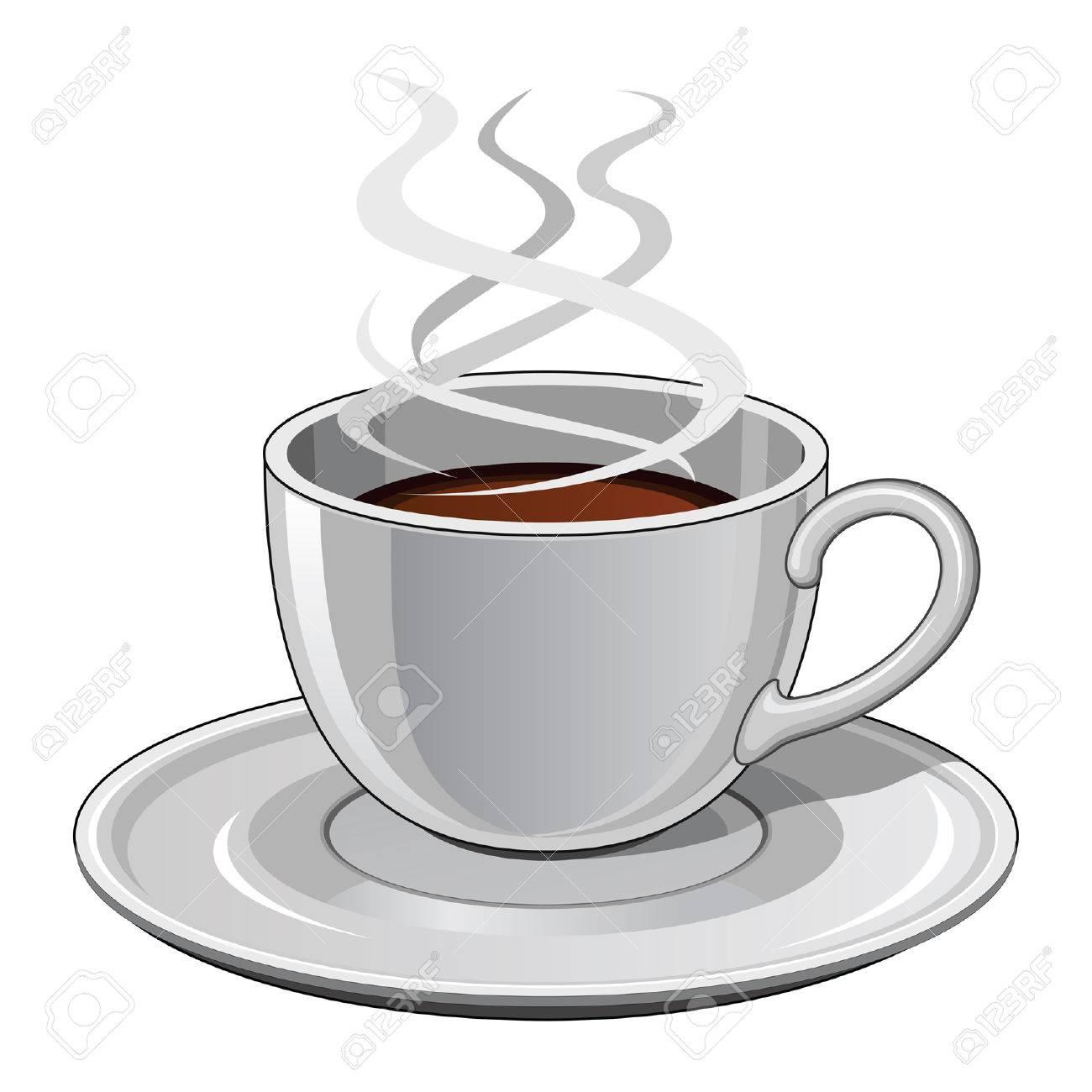 Tasse heißen dampfenden Kaffee | Stock Vektor | Colourbox