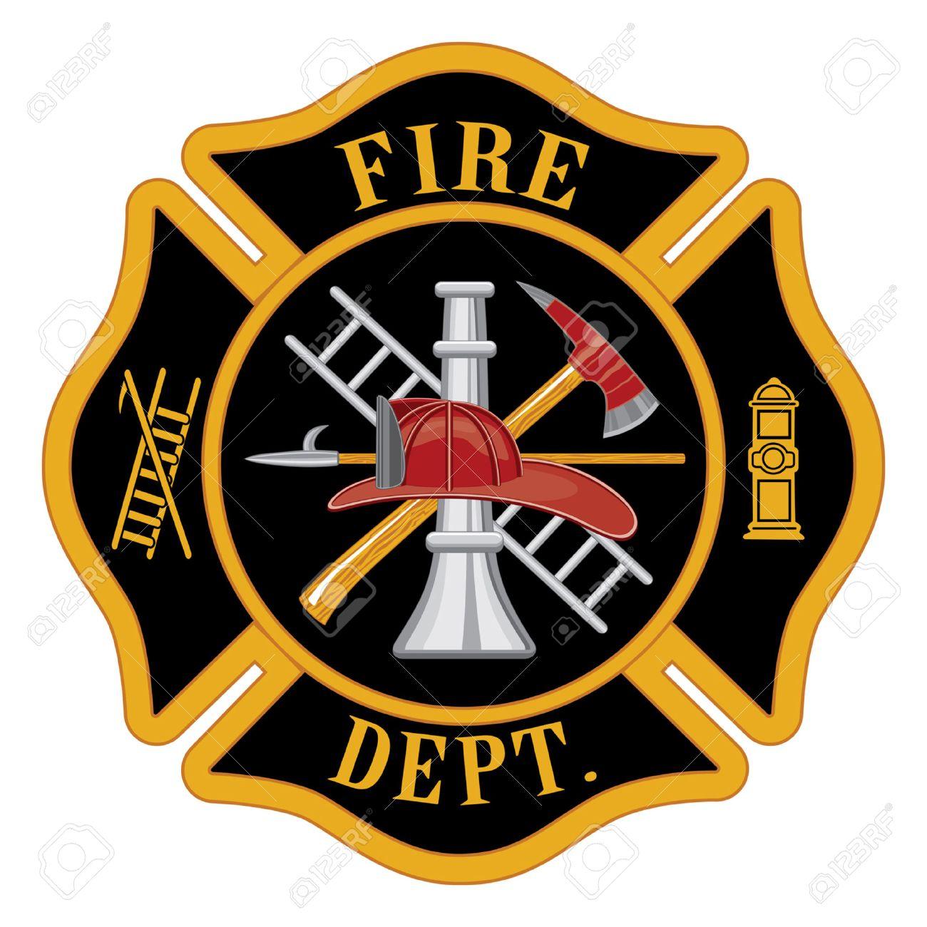 fire department or firefighters maltese cross symbol illustration rh 123rf com fire station symbols fire department symbols on buildings