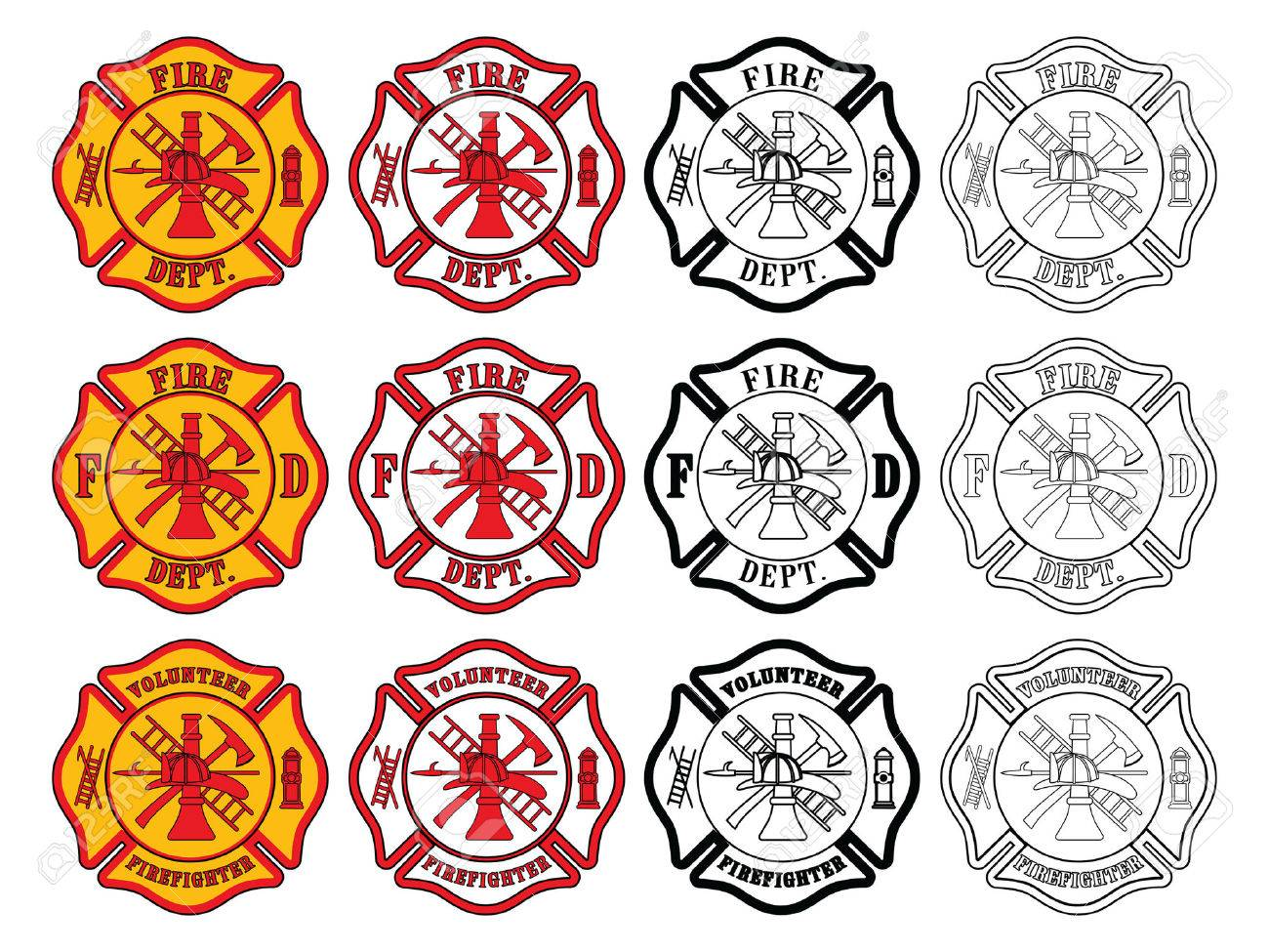 530 maltese cross stock vector illustration and royalty free firefighter cross symbol is an illustration of three slightly different firefighter biocorpaavc