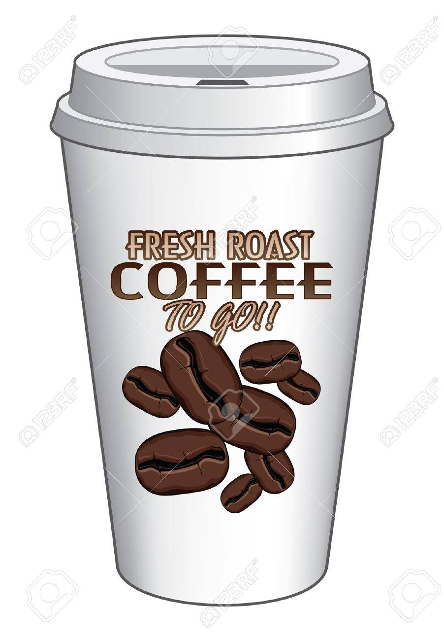 Beautiful Coffee Cup To Go Vector Design Fresh Roast Is An Illustration Of A On And Decorating