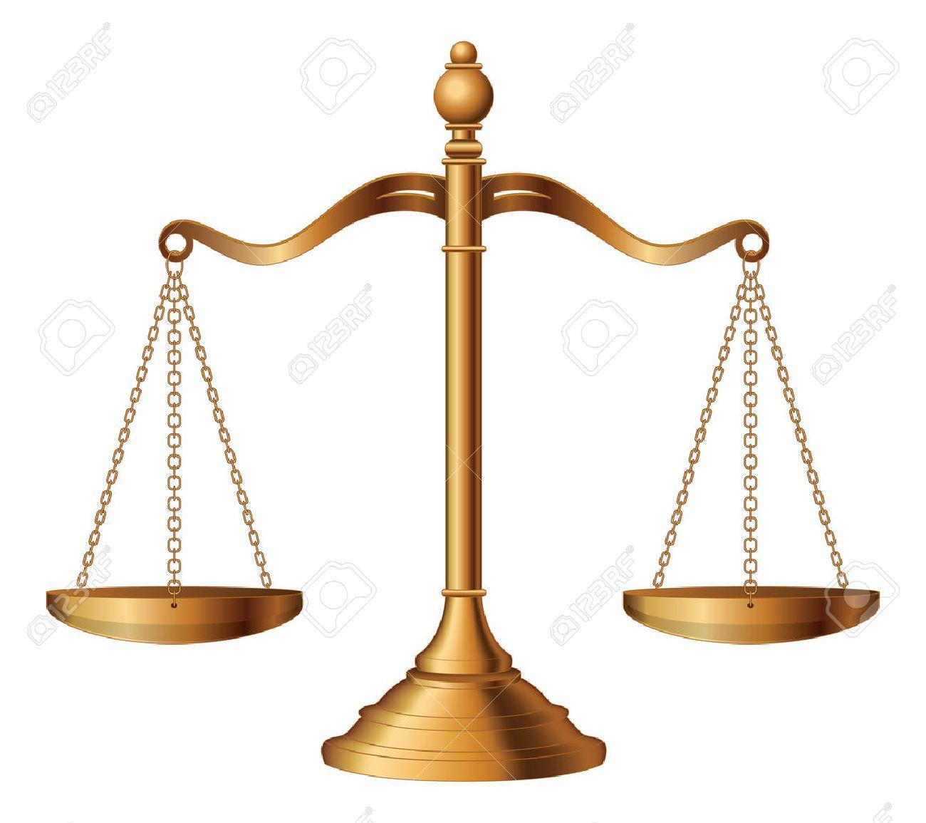 Scale Di Giustizia è Un Esempio Della Bilancia Della Giustizia Che