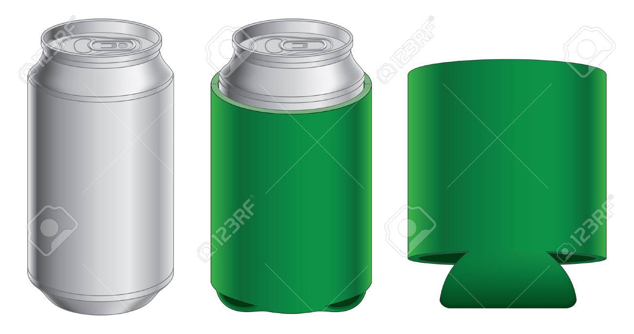 Aluminum Can And Koozie Is An Illustration Of With