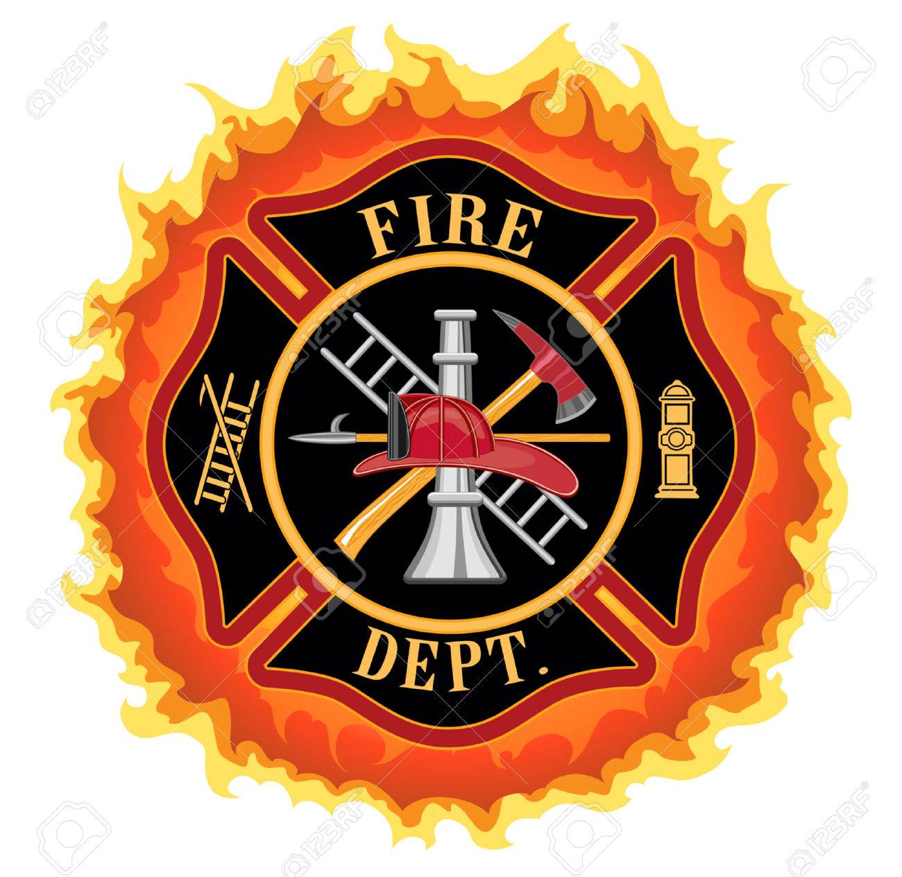 Firefighter cross with flames is an illustration of a fire firefighter cross with flames is an illustration of a fire department or firefighter maltese cross symbol biocorpaavc