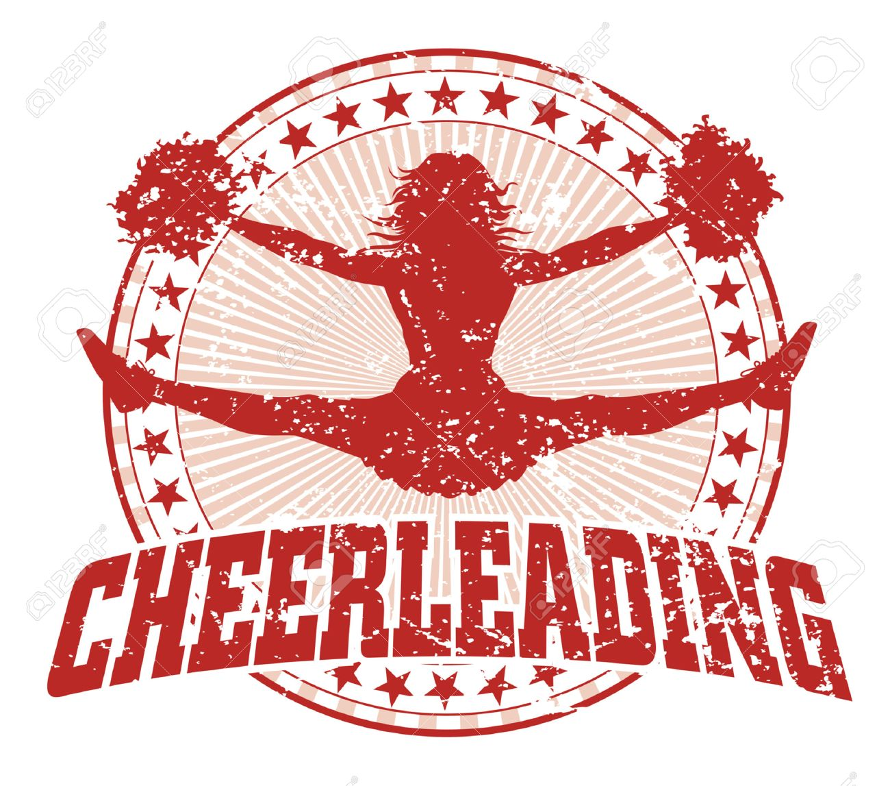 cheerleading Cheerleading Design - Vintage is an illustration of a cheerleading design in a vintage style with