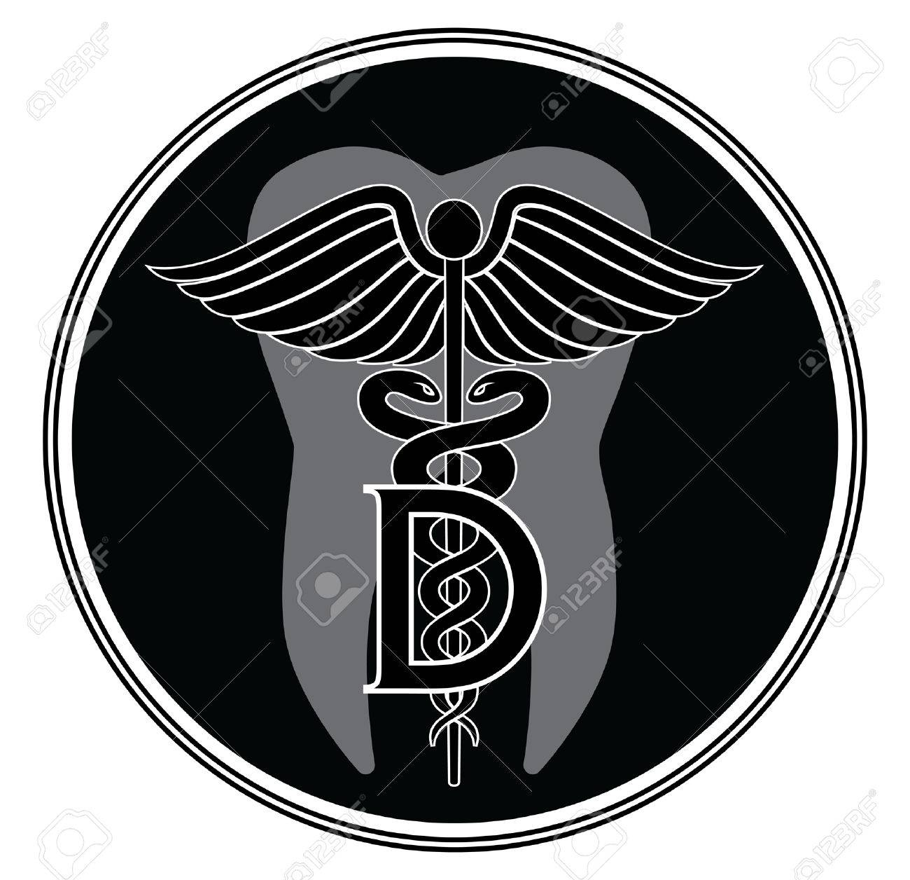 Dentist Medical Symbol Graphic Style Royalty Free Cliparts ...