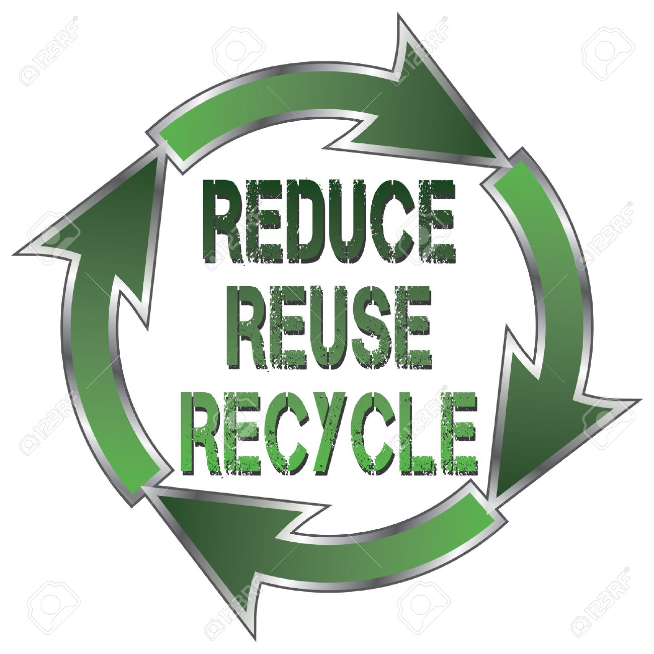 Reduce Reuse Recycle Is An Illustration Of A Recycle Symbol With
