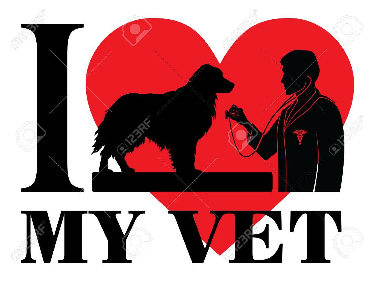 Amo A Mi Veterinario Es Una Ilustración De Un Diseño Para Mostrar Su ...