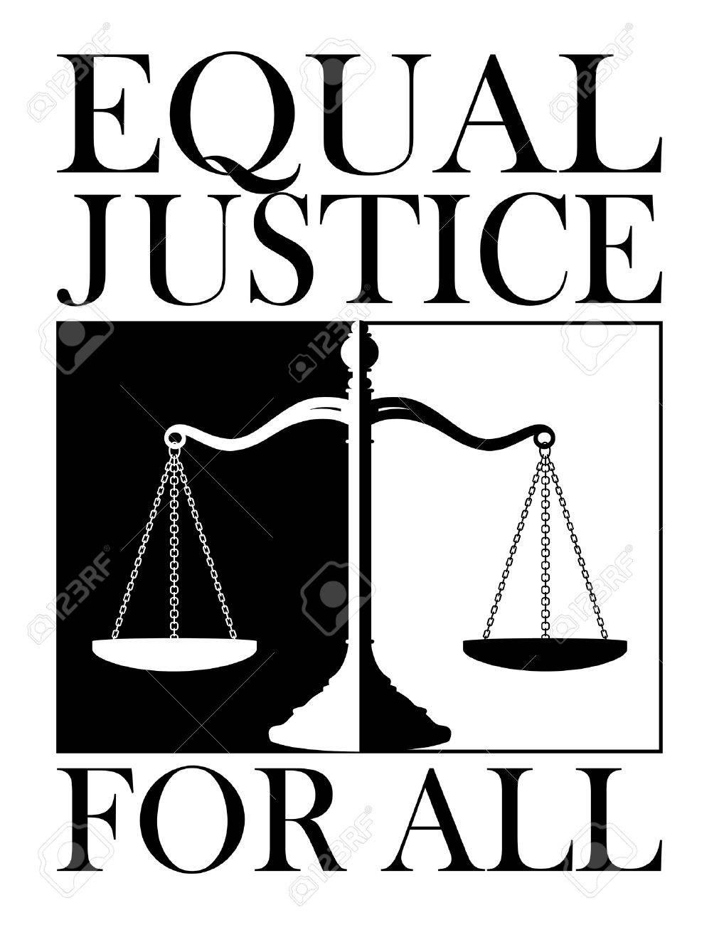 Giustizia Uguale Per Tutti è Un Esempio Di Un Disegno Raffigurante